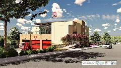 Rendering of future Fire Station 50